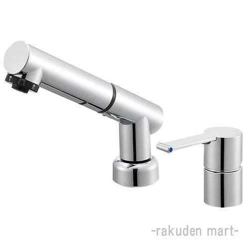 (キャッシュレス5%還元)三栄水栓 SANEI K37510JVZ-13 シングルスプレー混合栓(洗髪用) 洗面所用