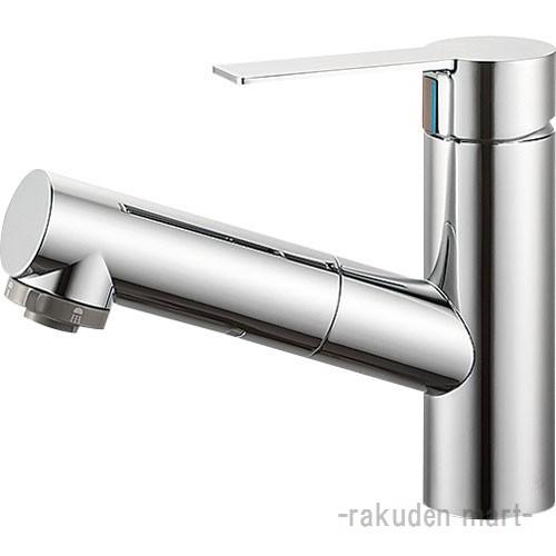 (キャッシュレス5%還元)三栄水栓 SANEI K37531JV-13 シングルスプレー混合栓(洗髪用) 洗面所用