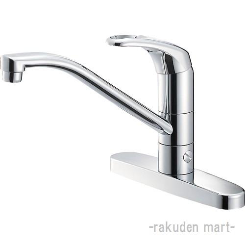 (キャッシュレス5%還元)三栄水栓 SANEI K676BV-13 シングル台付分岐混合栓 キッチン用