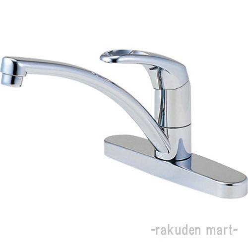 (キャッシュレス5%還元)三栄水栓 SANEI K676V-13 シングル台付混合栓 キッチン用