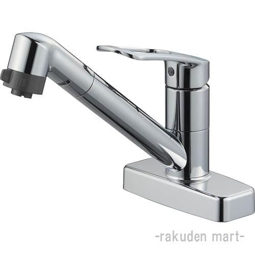 (キャッシュレス5%還元)三栄水栓 SANEI K7711MEK-13 シングル台付切替シャワー混合栓 キッチン用