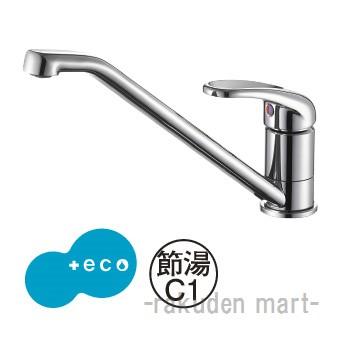 (キャッシュレス5%還元)三栄水栓 SANEI K87111EJK-80D-13 シングルワンホール混合栓 キッチン用