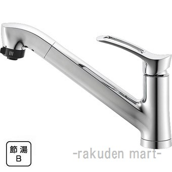 (キャッシュレス5%還元)三栄水栓 SANEI K87120JK-13 シングルワンホールスプレー混合栓 キッチン用