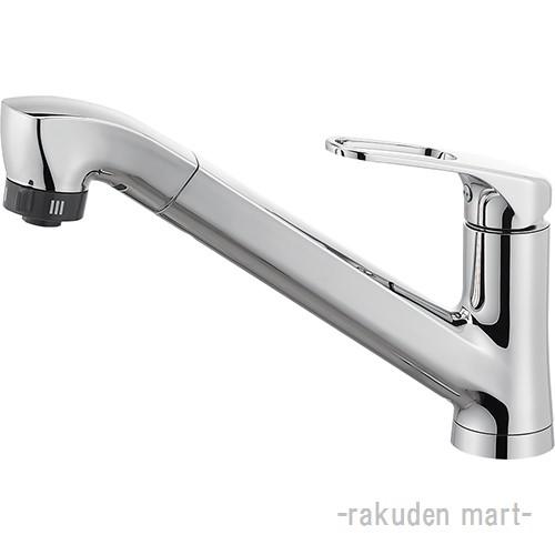 (キャッシュレス5%還元)三栄水栓 SANEI K87120JV-U-13 シングルワンホールスプレー混合栓(省施工ナット付) キッチン用