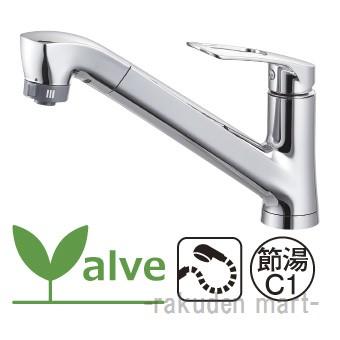 (キャッシュレス5%還元)三栄水栓 SANEI K87121EJK-13 ワンホールスプレー混合栓 キッチン用