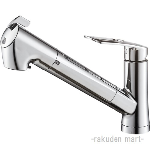 (キャッシュレス5%還元)三栄水栓 SANEI K87128EJV-13 シングル浄水器付ワンホールスプレー混合栓 キッチン用