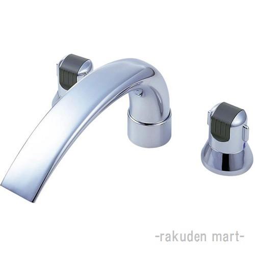 (キャッシュレス5%還元)三栄水栓 SANEI K9160C-L-13X240 ツーバルブデッキ混合栓(ユニット用) バスルーム用