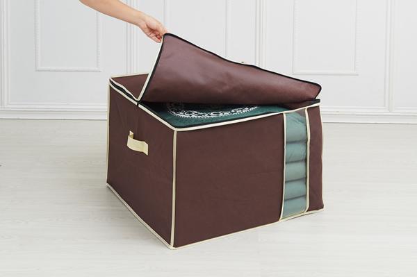 炭入り消臭 収納袋 座布団 収納ケース 3個セット