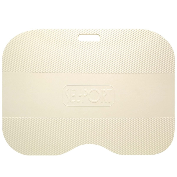 シャワールームにぴったりのコンパクトなおふろマット お風呂マット 防カビ シャワーマット ニューセルポート 44×60cm アイボリー | バスマット 浴室内マット 足元あったか