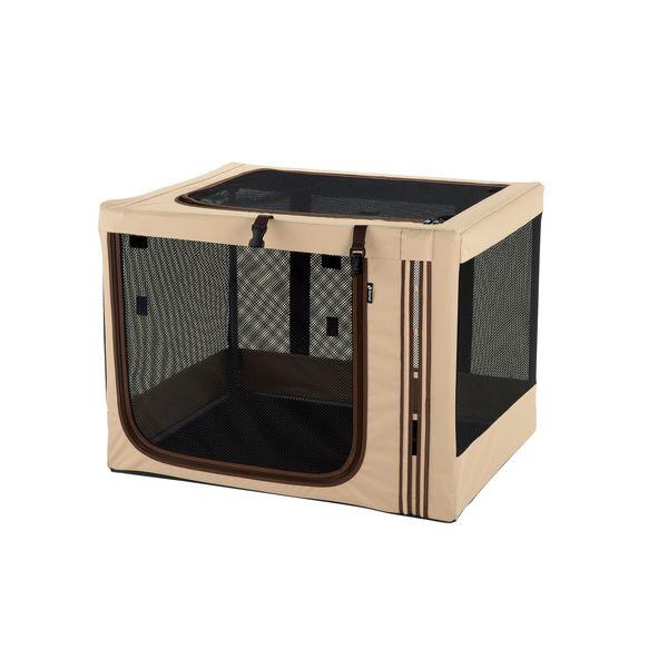 ペット キャリーバッグ リッチェル たためる3WAYペットケージ ブラウン 760 ( 犬 猫 ペット ケージ 折りたたみ )