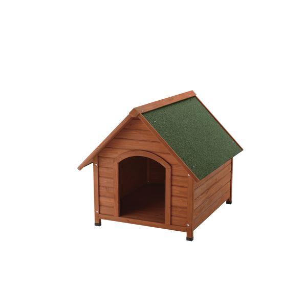 犬小屋 屋外 天然木製 リッチェル 木製犬舎 830 ( 小型犬 中型犬 )