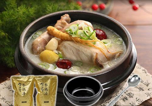 韓国宮廷料理サムゲタンスペシャルセット(プロが選んだ参鶏湯1kg×2袋、トゥペギ17cm、トレー、スプーン各1)(ギフト・中元 歳暮)【常温・冷凍・冷蔵可】【送料無料】