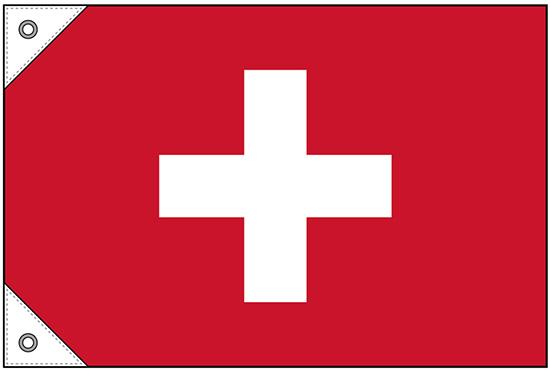 贈答 世界国旗 スイス 格安 ミニ W450×H300mm