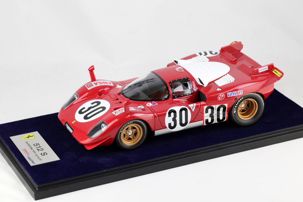 LOOKSMART(ルックスマート) LS18_08D 1/18 フェラーリ 512S Daytona 1970 #30 Scuderia Picchio Rosso (ケース付)