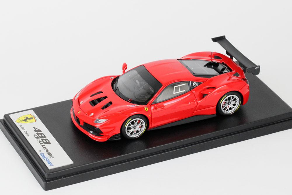 LOOKSMART LS476C フェラーリ 488 Challenge Rosso Scuderia (ブライトレッド)