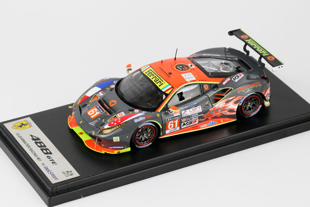 LOOKSMART LSLM072 フェラーリ 488 GTE #61 Clearwater Racing Le Mans 2017