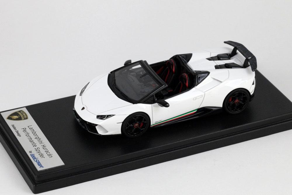 LOOKSMART(ルックスマート) 1/43完成品 LS481C ランボルギーニ ウラカン ペルフォマンテ スパイダー Bianco Monocerus(ホワイト)