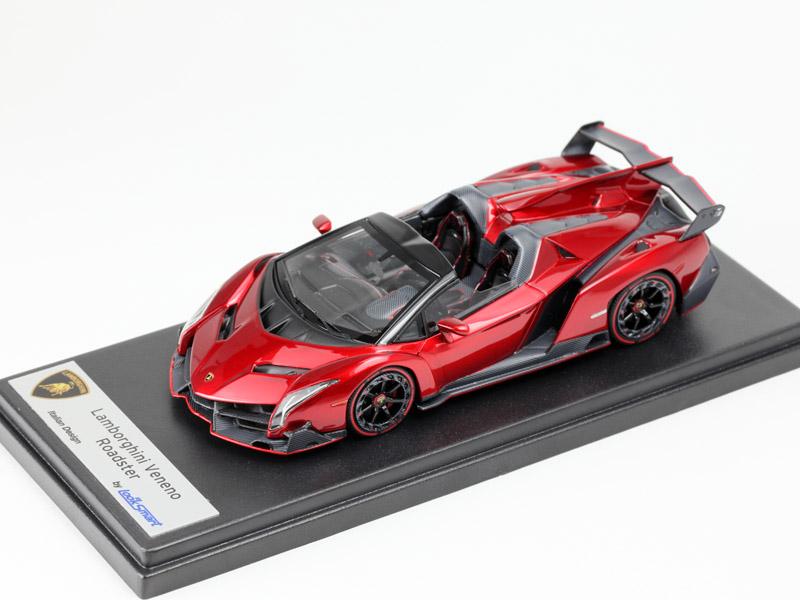 LOOKSMART(ルックスマート) 1/43完成品 LS429A ランボルギーニ ヴェネーノ ロードスター Rosso Veneno(メタリックレッド)