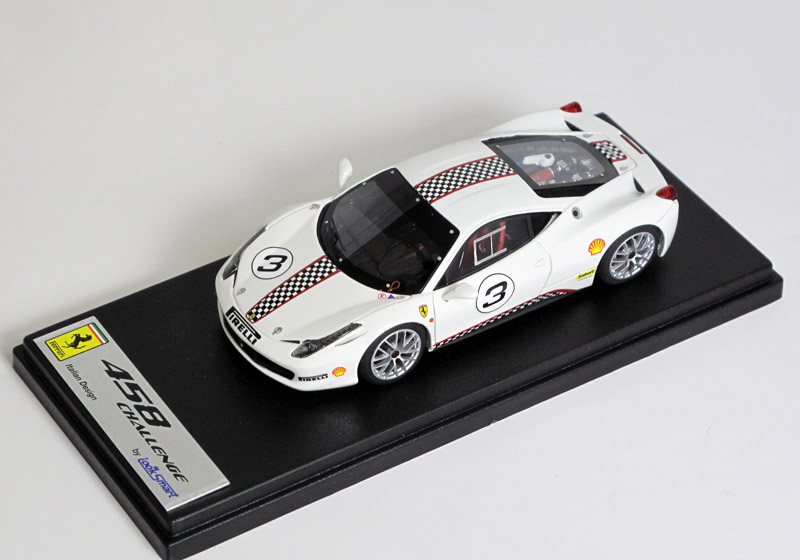 LOOKSMART LS385B フェラーリ 458 Challenge Press version n.3 White
