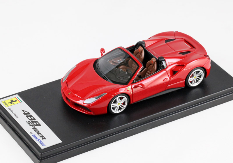 LOOKSMART LS451B フェラーリ 488 Spider /Rosso Corsa Metallic (メタリックレッド)