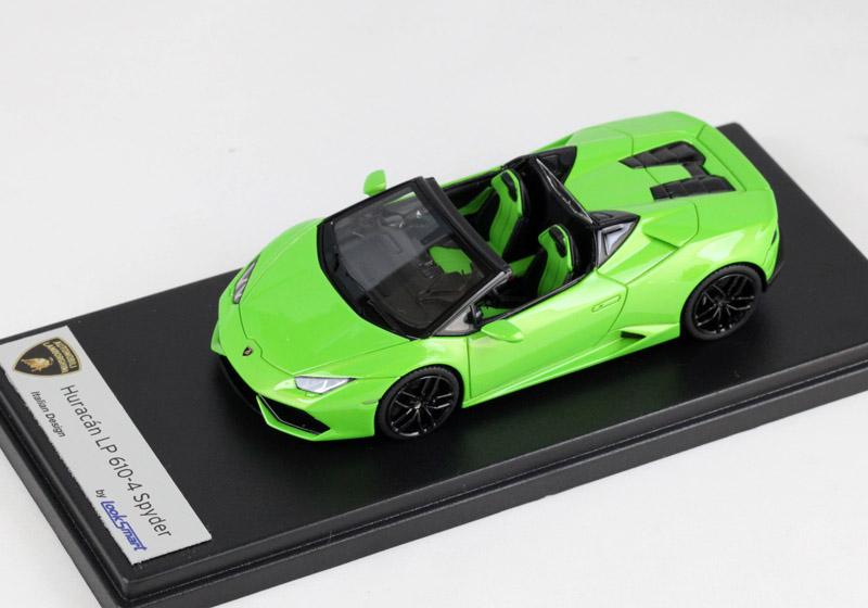 LOOKSMART(ルックスマート) 1/43完成品 LS452C ランボルギーニ ウラカン LP610-4 Spyder /Verde Mantis (パールグリーン)