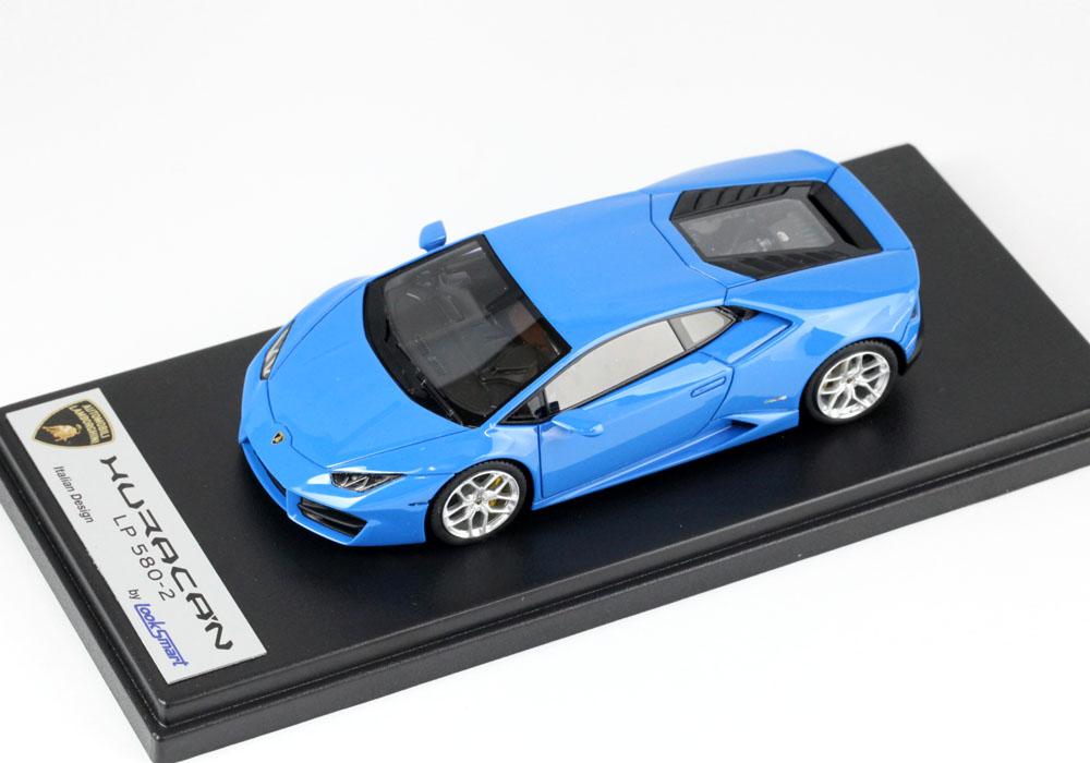 LOOKSMART(ルックスマート) 1/43完成品 LS455E ランボルギーニ ウラカン LP580-2 Blu Le Mans (ライトブルー)