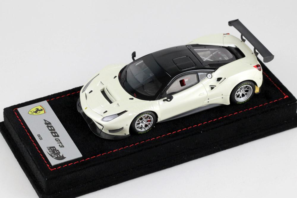 BBR 1/43完成品 BBRC180DB フェラーリ 488GT3 Fuji White(パールホワイト) /Black roof 20台限定