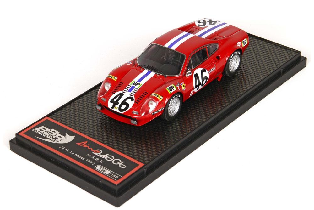 BBR 1/43完成品 BBRC075 フェラーリ Dino 246 GT NART Le Mans 1972 n.46 180台限定