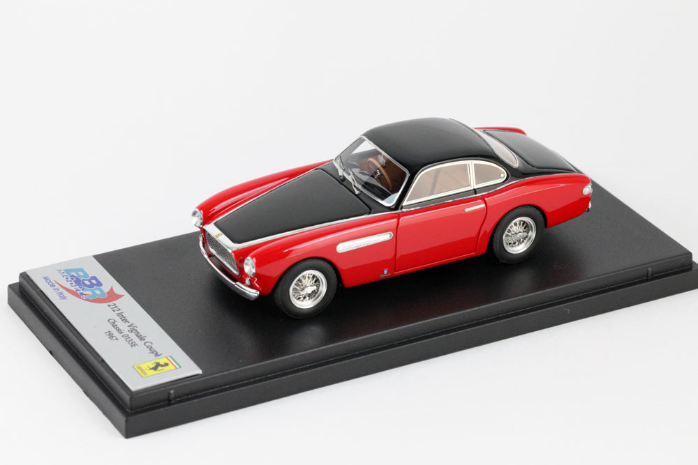BBR 1/43完成品 BBR190C フェラーリ 212 Inter Vignale Coupe 1951 Chassis 0135E Red /Black