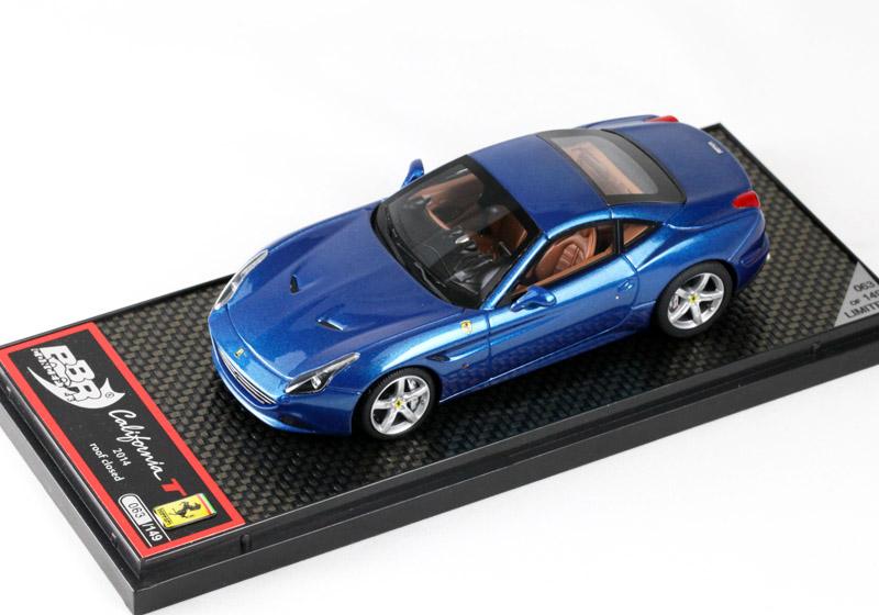 BBR 1/43完成品 C140B フェラーリ カリフォルニアT Geneve Auto Show 2014 Blue Metallizzato(ルーフクローズ)149台限定