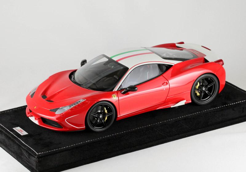 MRコレクション FE10SE2 1/18 フェラーリ 458 スペチアーレ Rosso Corsa /Special white frame 20台限定