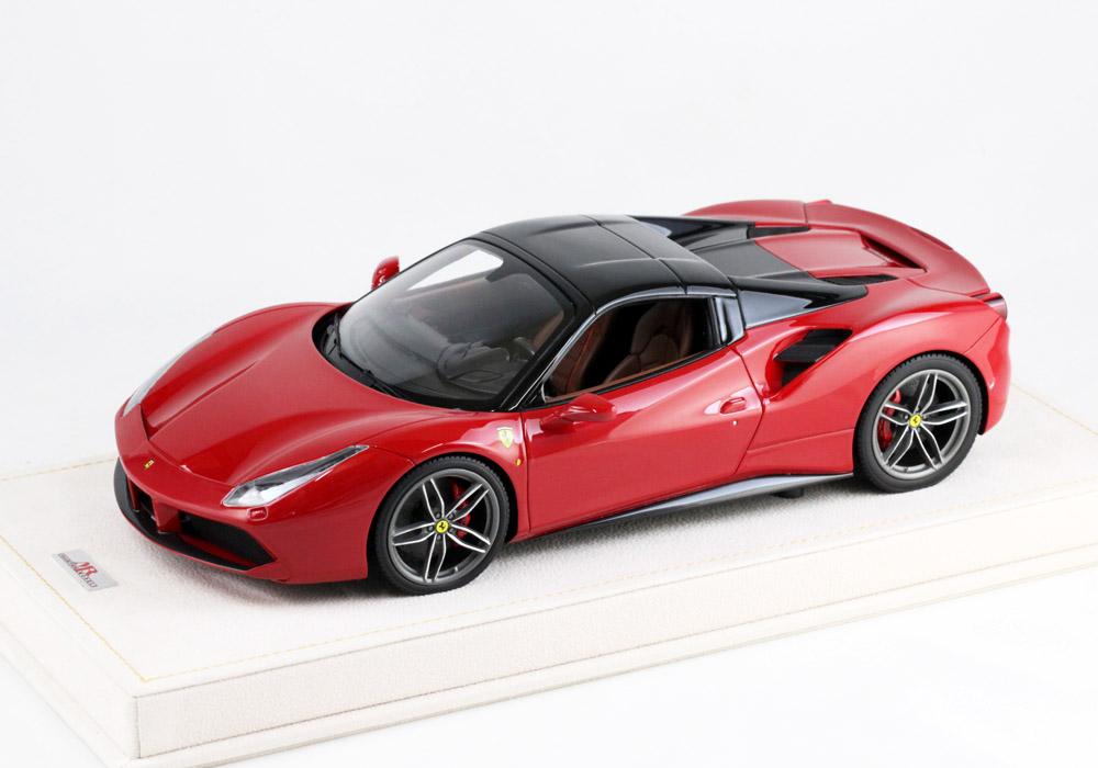 MRコレクション FER17HTB 1/18 フェラーリ 488 スパイダー Rosso Corsa Met(メタリックレッド)/ブラックルーフ(クローズ)