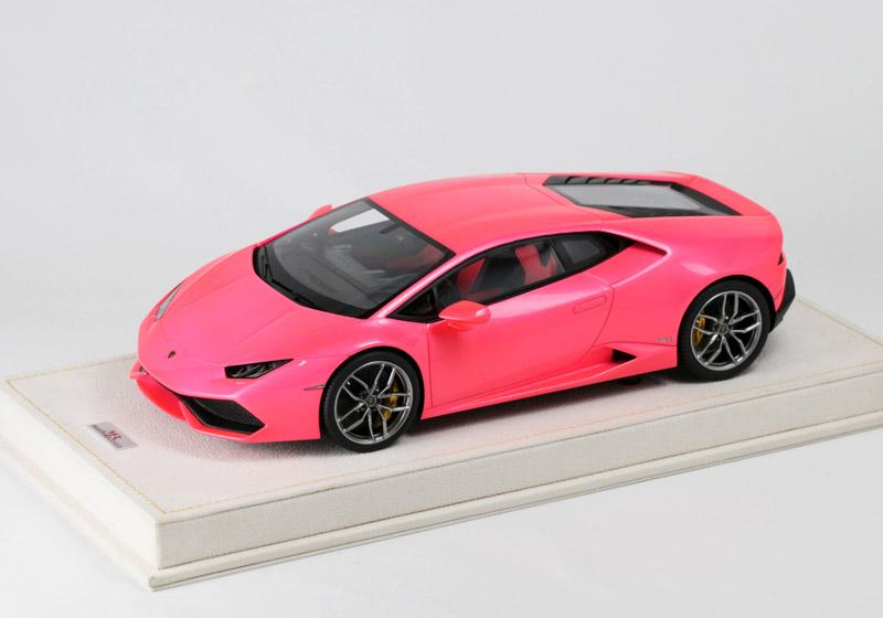 MRコレクション 1/18 LAMBO15moto ランボルギーニ ウラカン LP610-4 Gloss Met. Pink (ケース付) 25台限定