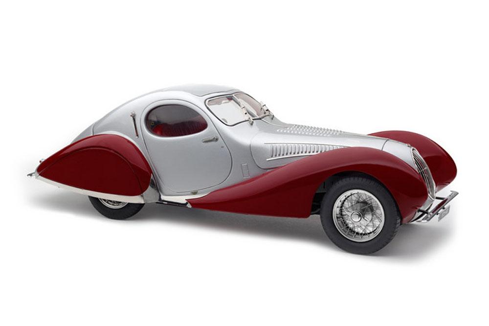CMC 1/18完成品 M-165 1/18 Talbot Lago Coupe T150 C-SS Figoni & Falaschi Teardrop 1937-1939 Silver/Red