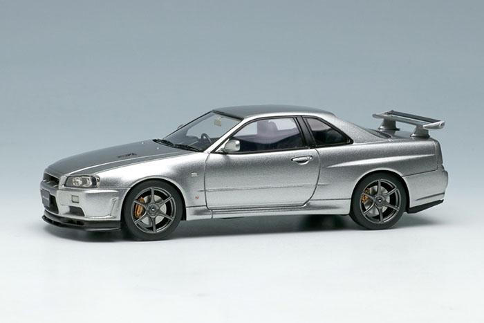 EIDOLON(アイドロン) 1/43完成品 EM372E ニッサン スカイライン GT-R (BCR34) V-spec II Nur 2002 スパークリングシルバー
