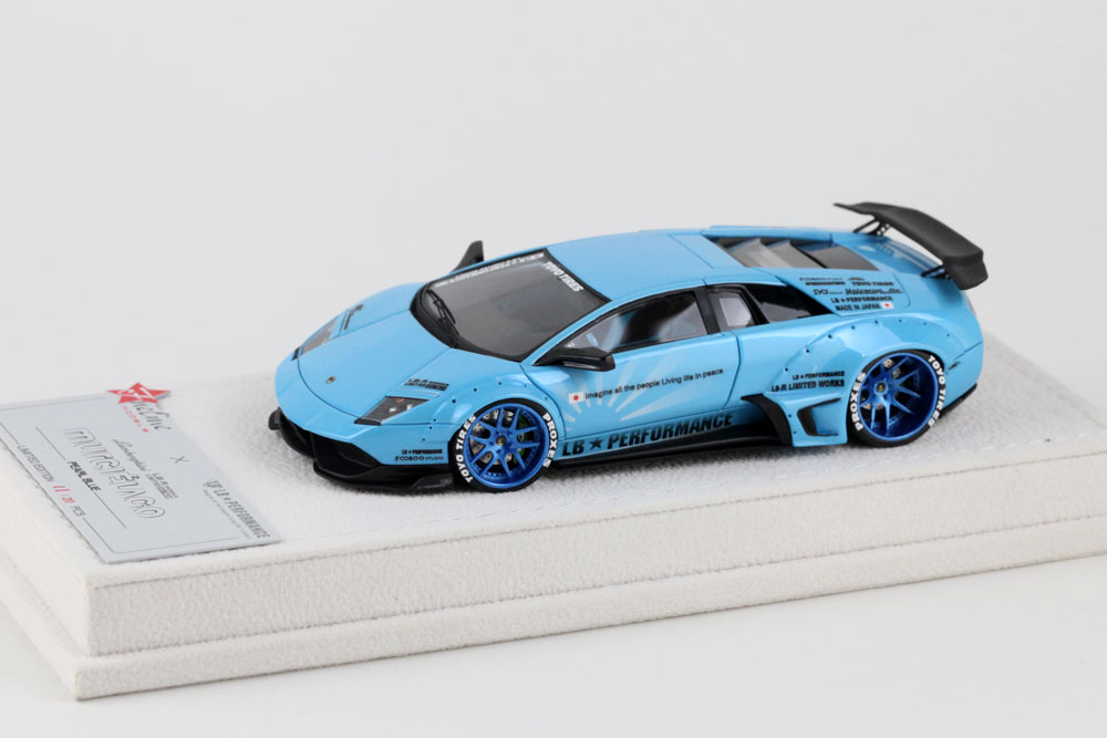 FuelMe Model FM43003LM-D 1/43完成品 LB Performance ランボルギーニ LB WORKS ムルシエラゴ Pearl Blue 20台限定