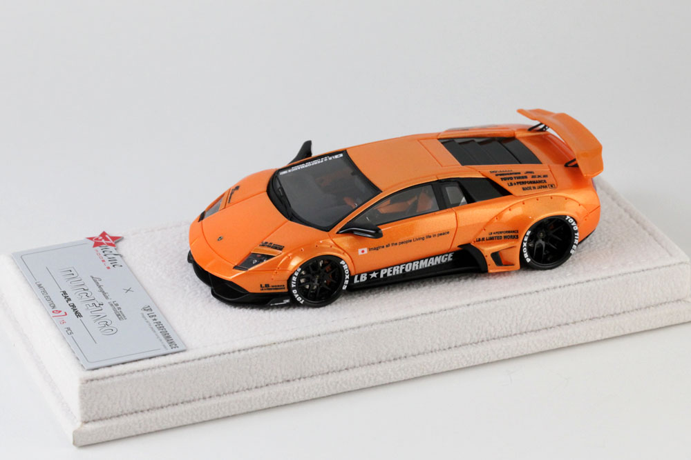FuelMe Model FM43003LM-M 1/43完成品 LB Performance ランボルギーニ LB WORKS ムルシエラゴ Pearl Orange 15台限定