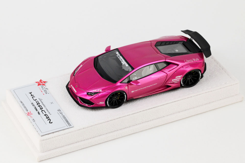 FuelMe Model 1/43完成品 Liberty Walk LB WORKS ウラカン Electronic Pink (GT Tail) 40台限定