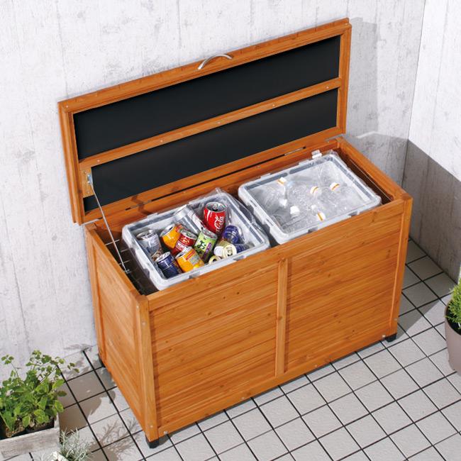 送料無料 木製ワイドストッカー WWS-970幅97×奥行47×高さ67cm 家具 アイリスオーヤマ