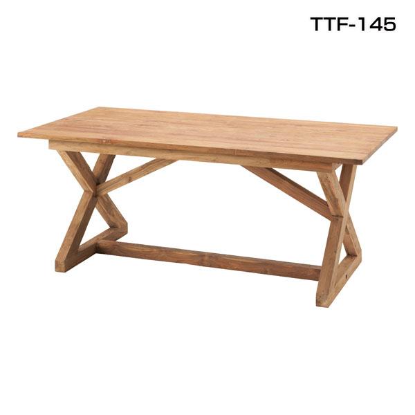 送料無料 【TD】ビビア ダイニングテーブル TTF-145天然木 木製テーブル ハイテーブル 木 食卓 無垢 北欧 シンプル モダン カントリー 北欧 アンティーク【取寄品】【東谷】