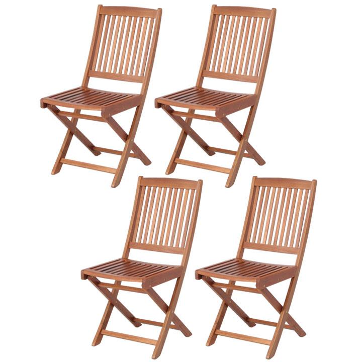 送料無料 【ガーデンチェア ガーデンファニチャー】≪4脚セット≫フォールディングチェア #GC91JP【セット 椅子 イス 木製 アウトドア】 【D】【FB】