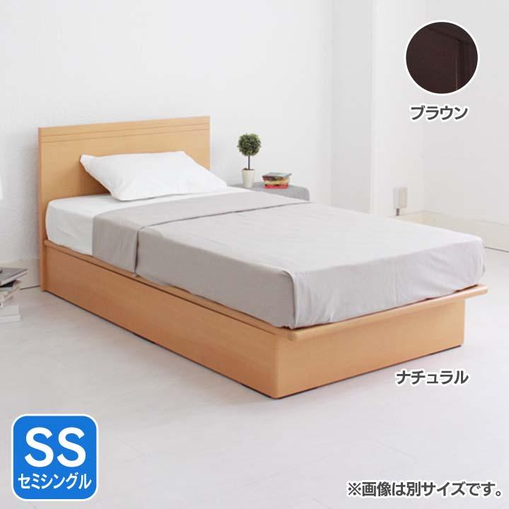 フラットヘッド縦開きリフトアップベッド浅型SS FNV2SSREBR送料無料 ベッド セミシングル 寝室 ベッドルーム 寝具 ホワイト【TD】 【代引不可】【取り寄せ品】