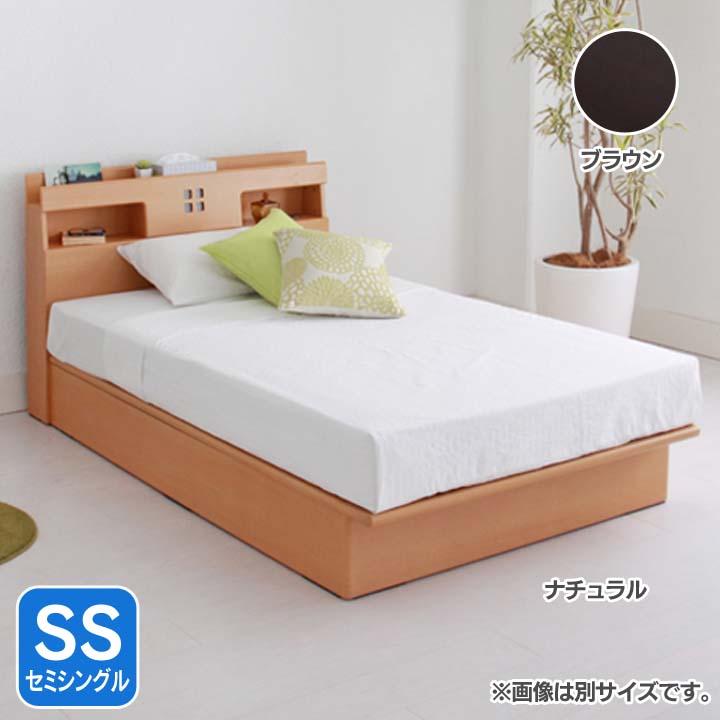 宮付き縦開きリフトアップベッド浅型SS AQUSSREBR送料無料 ベッド セミシングル 寝室 ベッドルーム 寝具 ホワイト【TD】 【代引不可】【取り寄せ品】