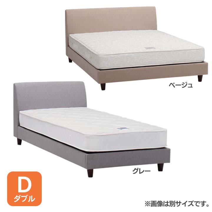 ファブリックベッドD OLEDGY送料無料 ベッド ダブル 寝室 ベッドルーム 寝具 ホワイト【TD】 【代引不可】【取り寄せ品】