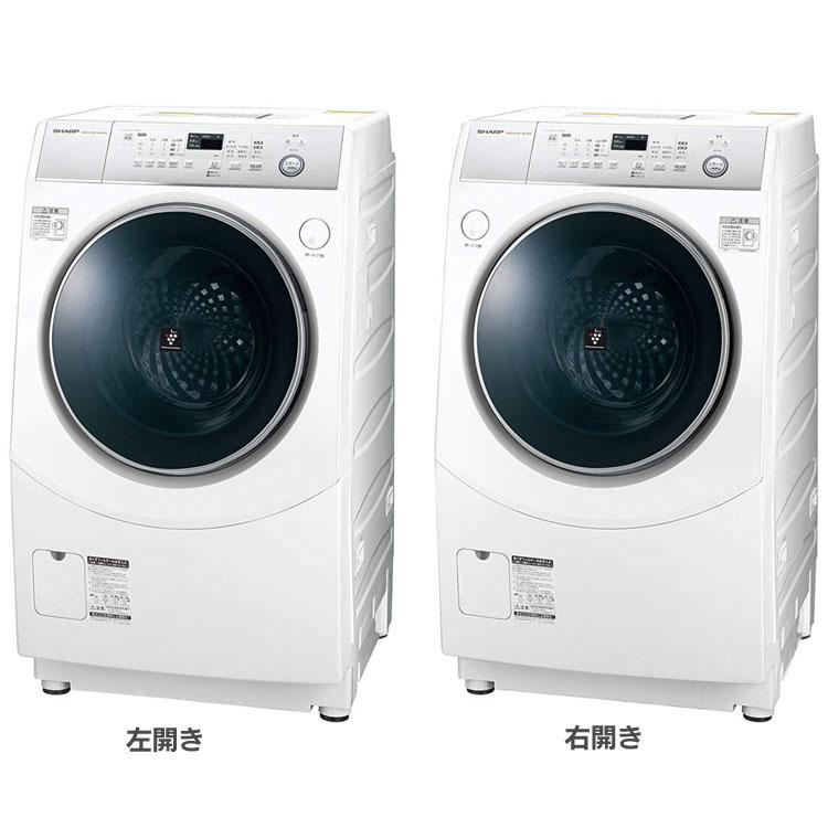 ドラム式洗濯機 10kg ES-H10C-WL ES-H10C-WR送料無料 洗濯機 洗濯 ドラム式 左開き 右開き 10kg 家電 生活家電 SHARP シャープ 左開き 右開き【D】