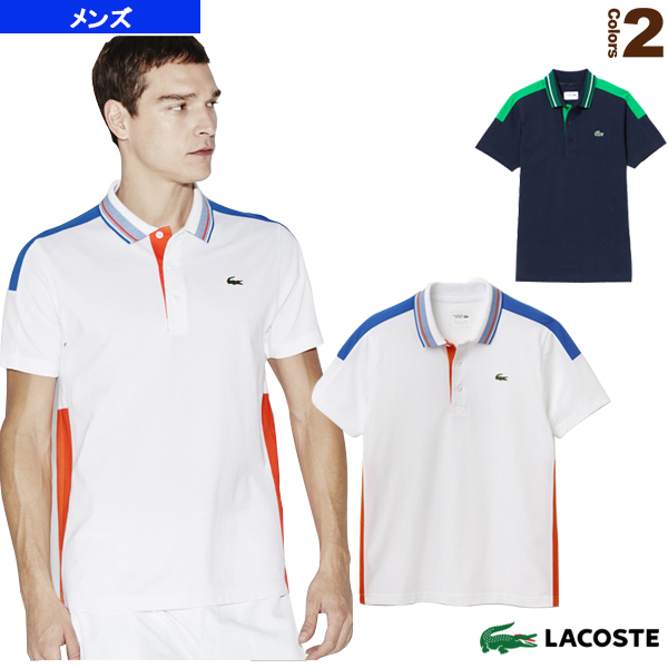 a7b92d49 [Lacoste tennis badminton wear (men's / uni-)] POLOS/ color block polo  shirt / short sleeves / men (YH5523)