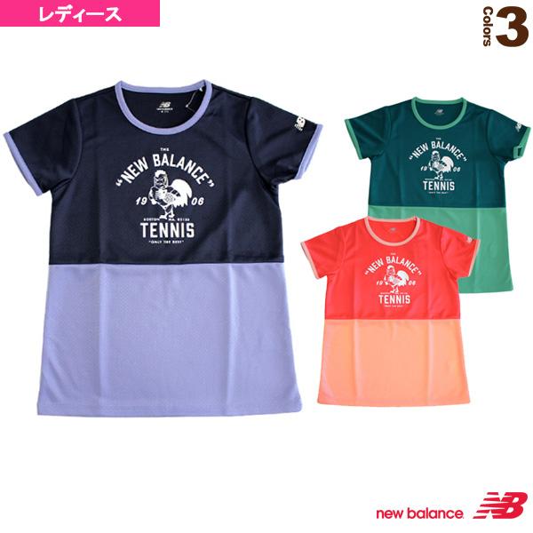 9cb28370c66f2 [ニューバランステニス・バドミントンウェア(レディース)]ショートスリーブプラクティスTシャツ/