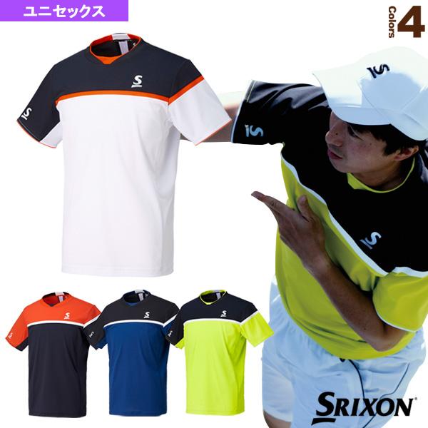 スリクソン テニス バドミントン ウェア メンズ 70%OFFアウトレット SDP-1740 ユニ サービス ユニセックス テニスウェア男性用 ゲームシャツ