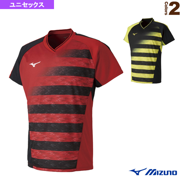 [ミズノ テニス・バドミントン ウェア(メンズ/ユニ)]ゲームシャツ/ユニセックス(72MA8002)