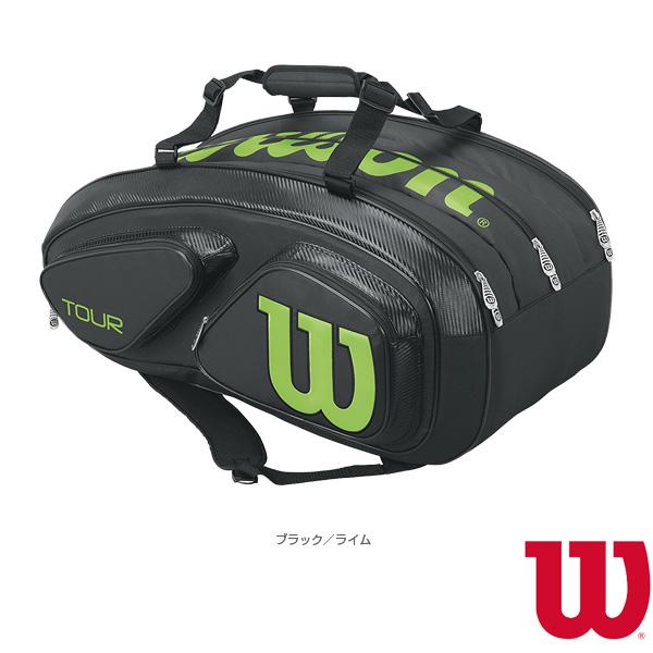 [ウィルソン テニス バッグ]TOUR V 15 PACK BKLI/ツアー V 15パック/ブラック×ライム/ラケット15本収納可(WRZ845615)ラケットバッグ